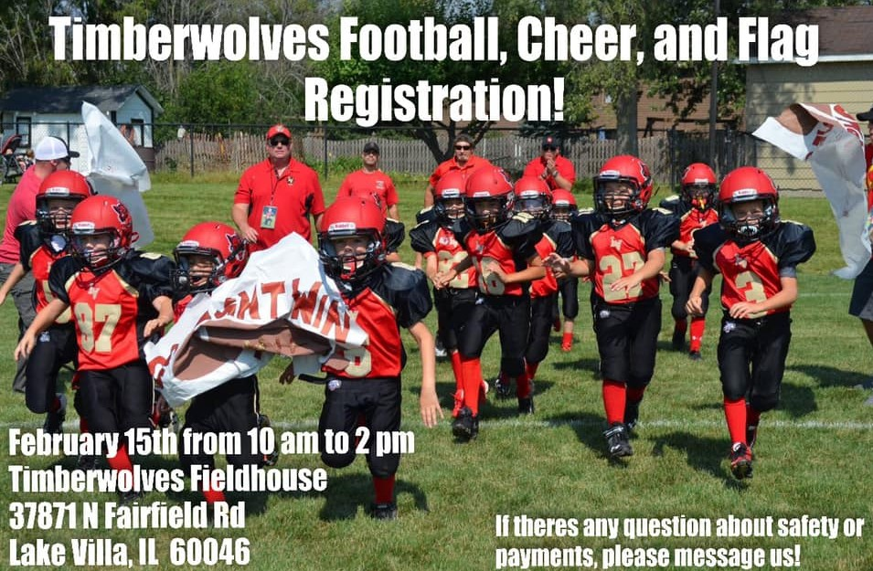 Football Cheer and Flag Registration