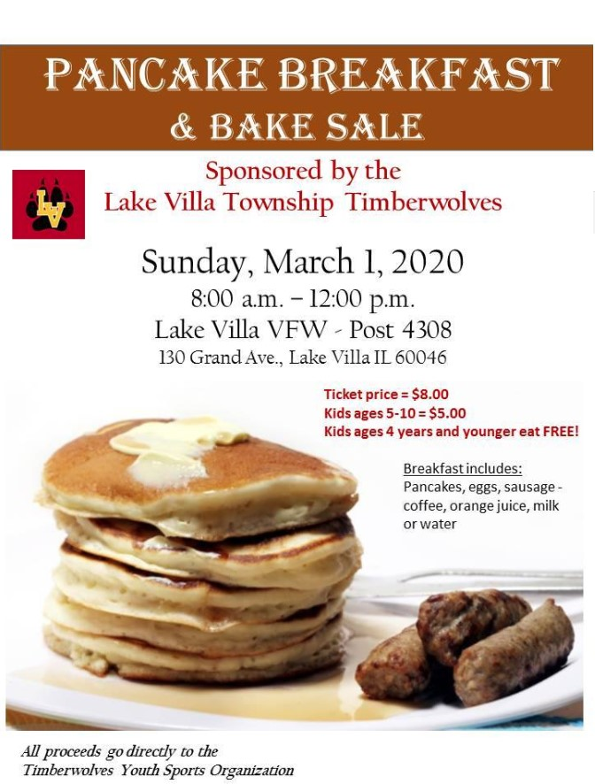 Pancake Breakfast Bake Sale